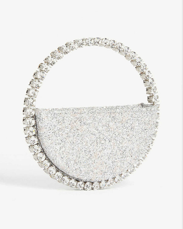 L'alingi London Eternity White Glitter Luxury Clutch with Swarovski stones