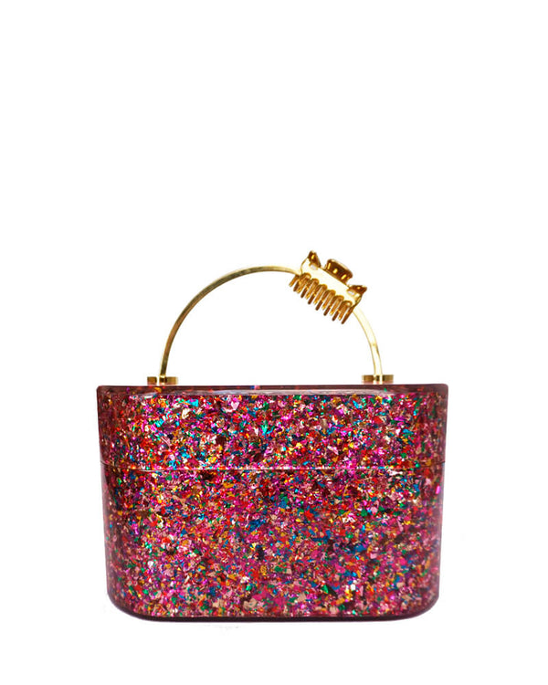 L'alingi London Trunk Confetti Luxury Clutch