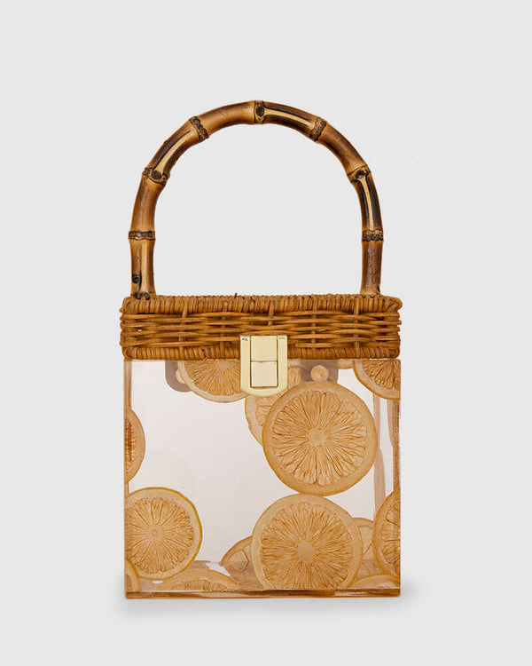 L'alingi London Bamboo Lemons Luxury Bamboo Bag
