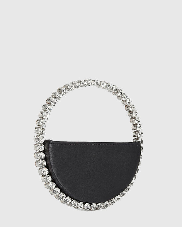 L'alingi London Eternity Black Luxury Clutch with Swarovski stones