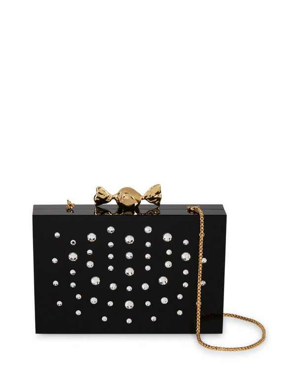 L'alingi London Black Tutsi Luxury Clutch with Swarovski Stones