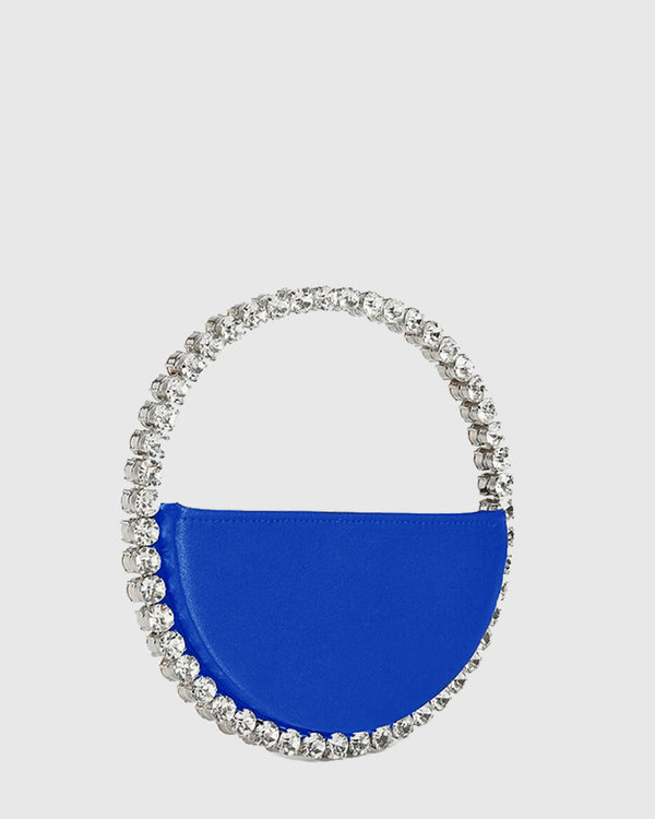 L'alingi London Eternity Royal Blue Luxury Clutch with Swarovski stones