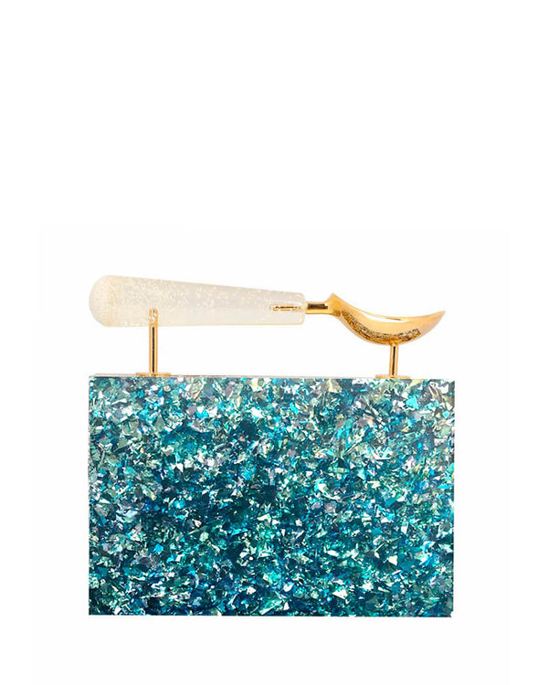 L'alingi London Jasmina Blue Luxury Clutch
