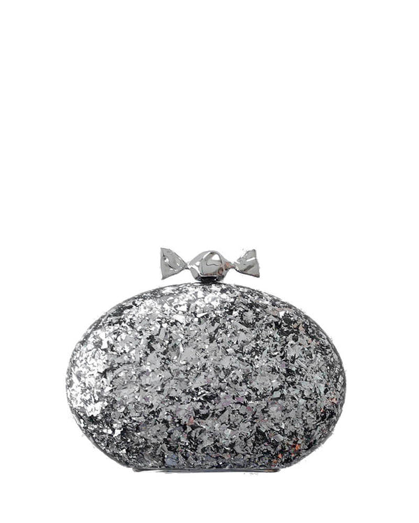 L'alingi London Bonbon Silver Luxury Clutch