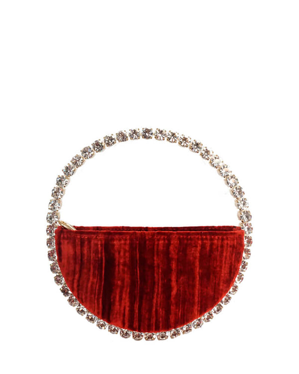 L'alingi London Eternity Burgundy Luxury Clutch with Swarovski stones