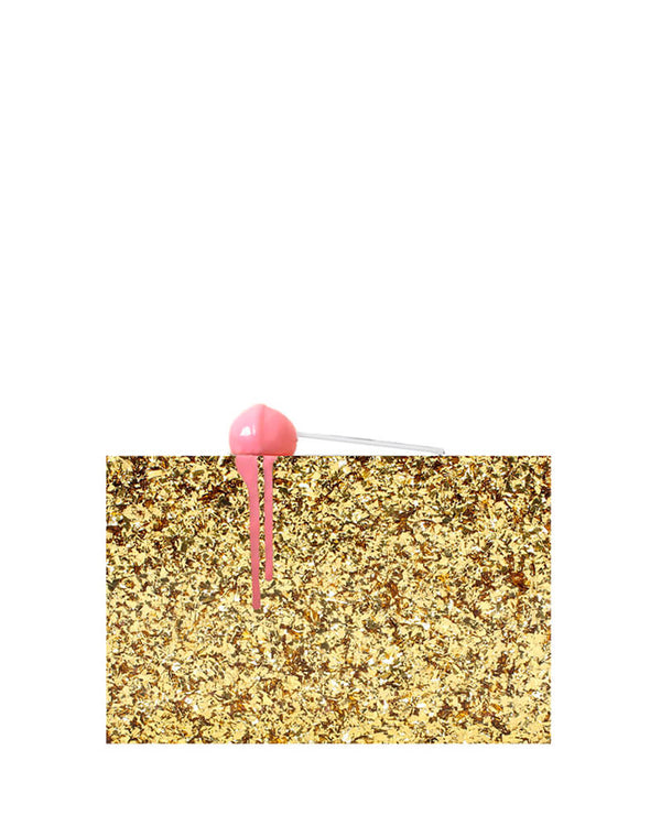 L'alingi London Gold Lolli Luxury Clutch