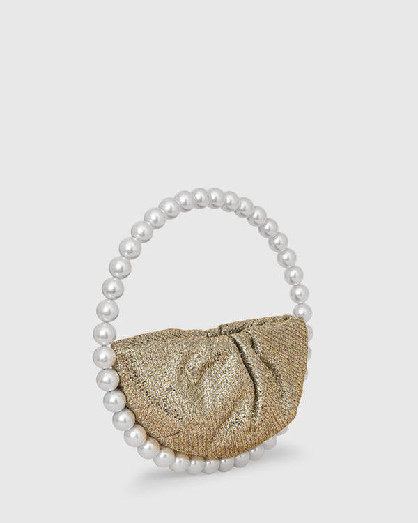 L'alingi London Pearl Lace Glitter Luxury Clutch