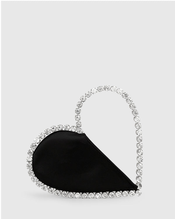 L'alingi London Black Love Luxury Clutch