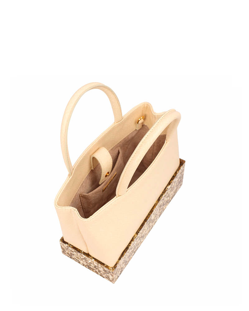 L'alingi London Nora Creme Luxury Handbag