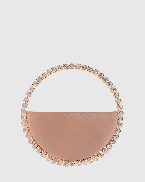 L'alingi London Eternity Nude Luxury Clutch with Swarovski stones