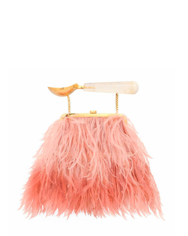 L'alingi London Ombre Pink Flamingo Purse Luxury Clutch