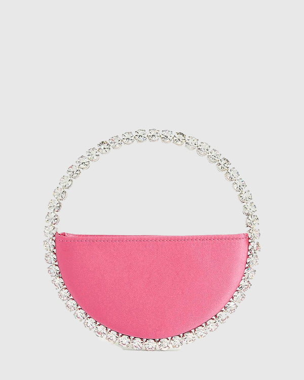 L'alingi London Eternity Pink Luxury Clutch with Swarovski stones