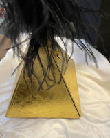 Gold Pyramid Clutch