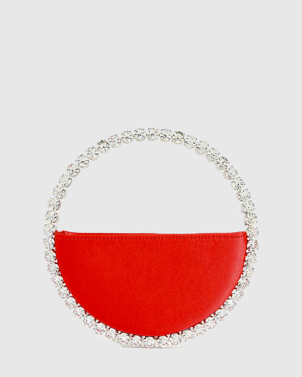 L'alingi London Eternity Red Luxury Clutch with Swarovski stones