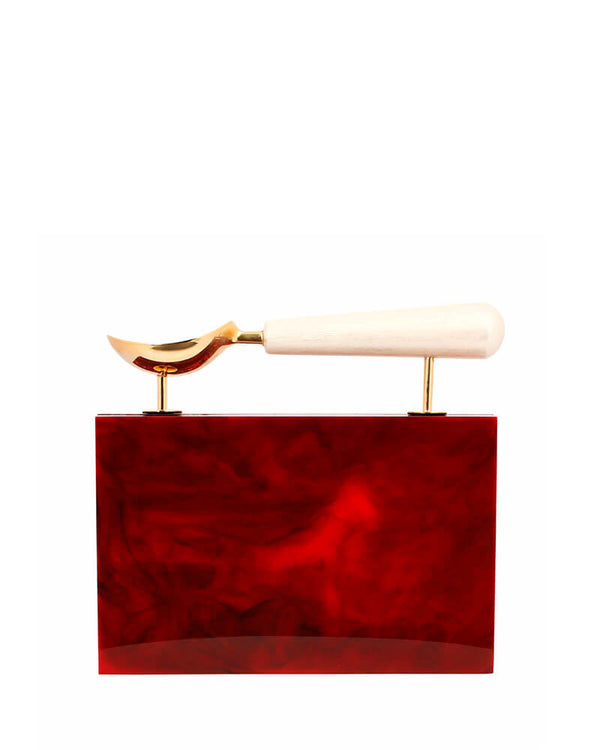 L'alingi London Jasmina Rouge Luxury Clutch