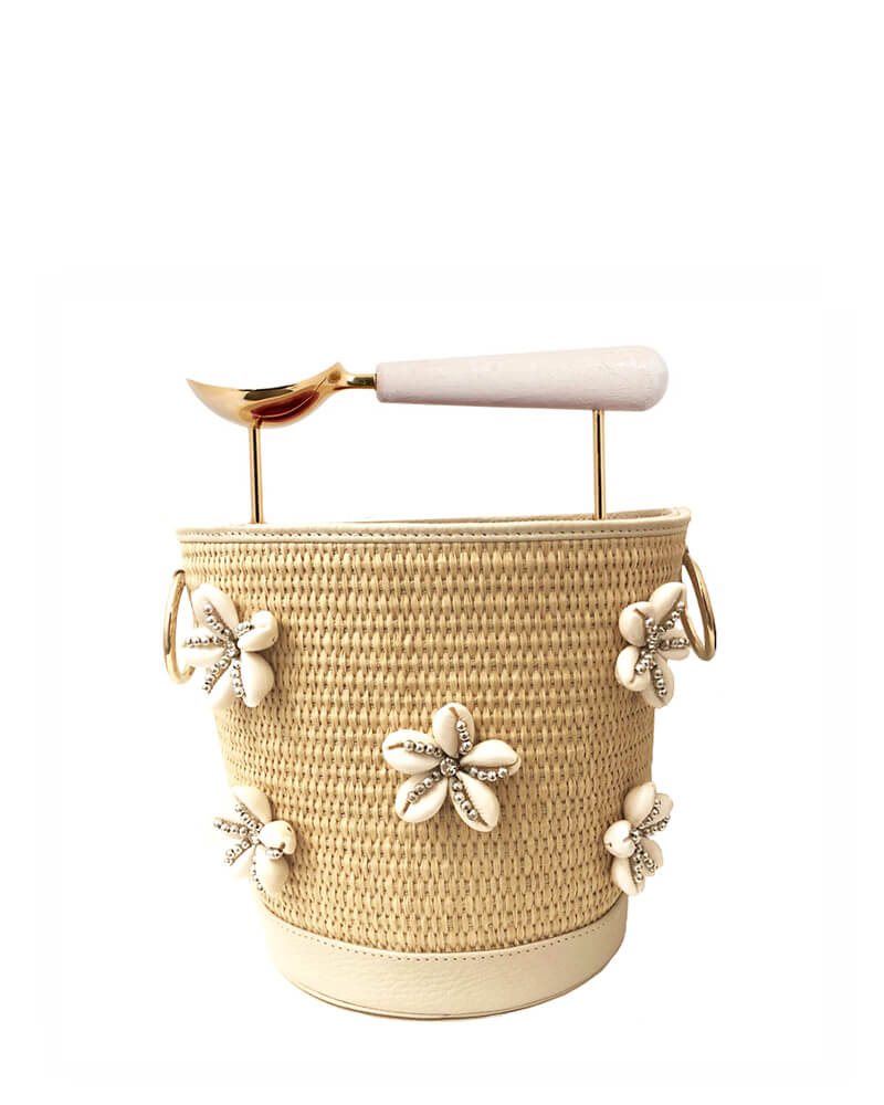 L'alingi London Jasmina Seashell Luxury Bucket Bag