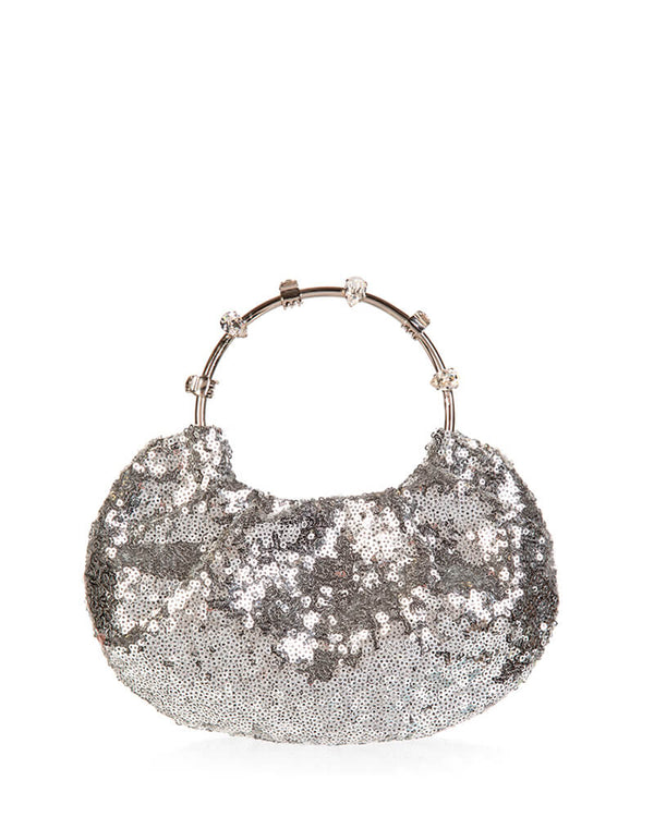 L'alingi London Pouch Silver Sequins Luxury Clutch