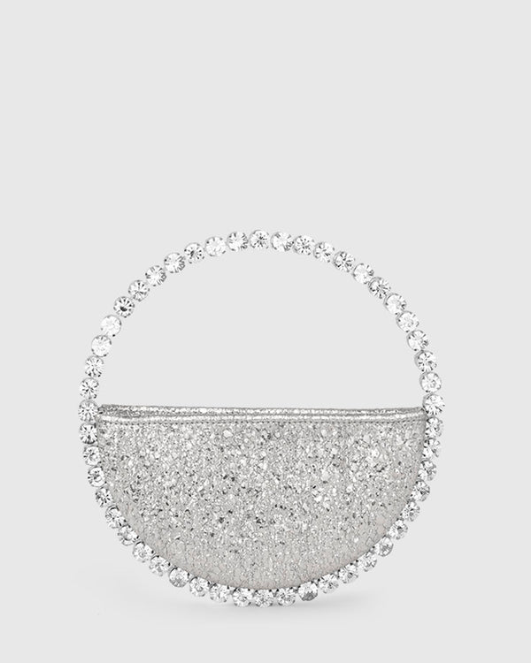 L'alingi London Silver Metallic Eternity Luxury Clutch