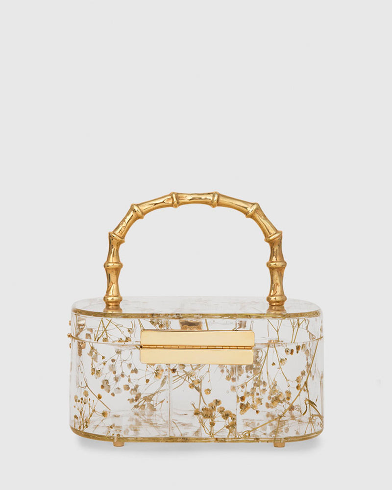 L'alingi London Bamboo Flower Trunk Luxury Clutch