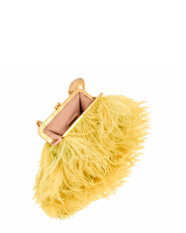 L'alingi London Yellow Flamingo Purse Luxury Clutch