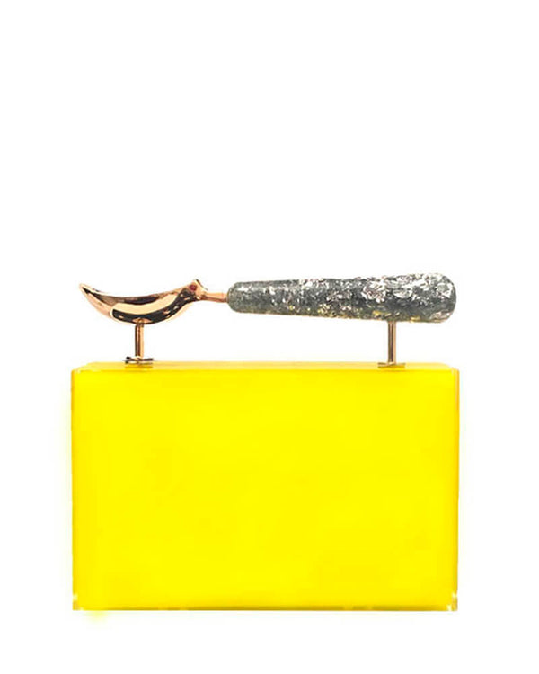L'alingi London Jasmina Yellow Luxury Clutch
