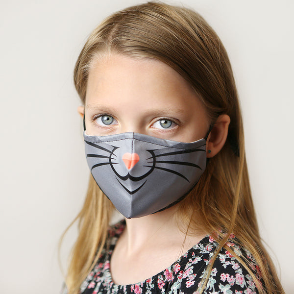Kids Cute Washable Face Mask with Filter