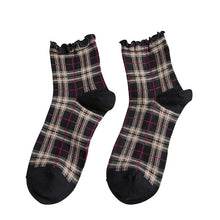 Load image into Gallery viewer, Mad For Plaid Ruffle Socks