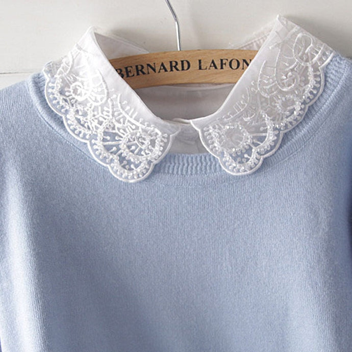 Cutest Angle Detachable Lace Collar