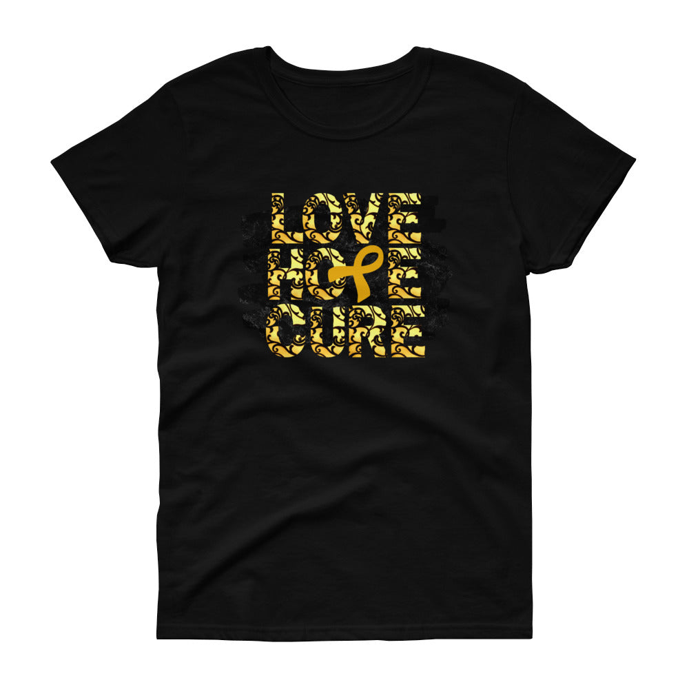 Childhood Cancer Awareness, Childhood Cancer Survivor, Gold Awareness Ribbon, Inspirational Gifts, Casual Wear, Activewear