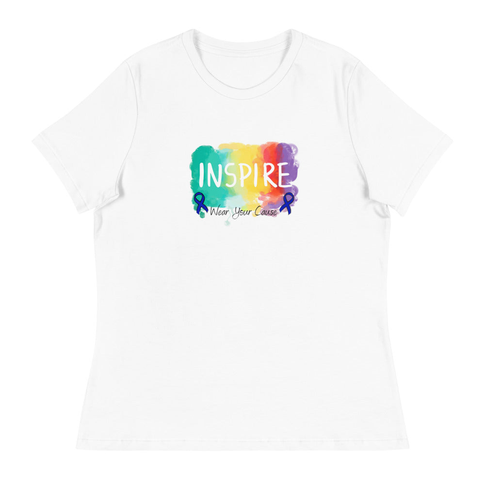 Colon Cancer Awareness, Inspire T-Shirt, Women's T-Shirt