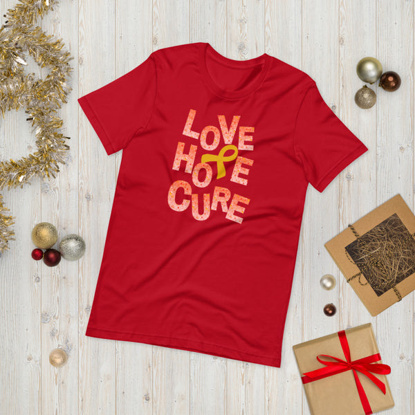 Christmas Shirt, Childhood Cancer Awareness, Gold Awareness Ribbon, Awareness Ribbon Gifts, Awareness Clothing, Holiday Shirts, Family Shirts