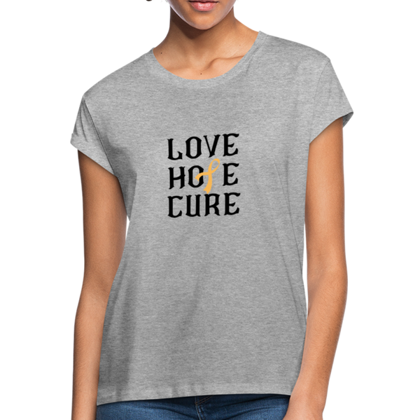 Peach Awareness Ribbon Shirt - heather gray