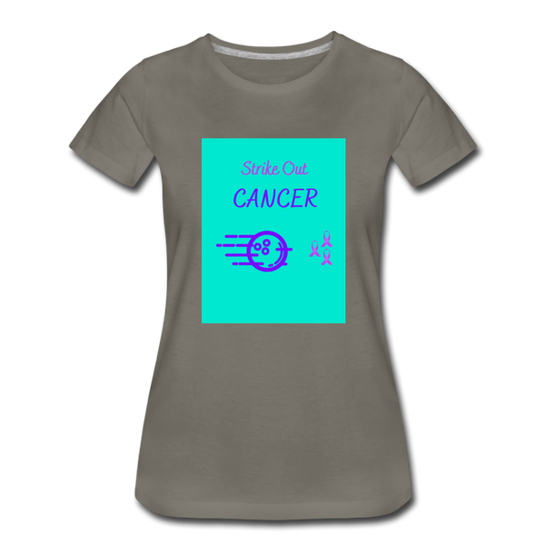 Cancer Awareness Shirt - asphalt gray