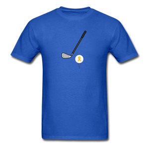 Childhood Cancer Awareness Shirt for Men - royal blue