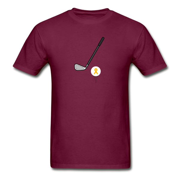 Childhood Cancer Awareness Shirt for Men - burgundy