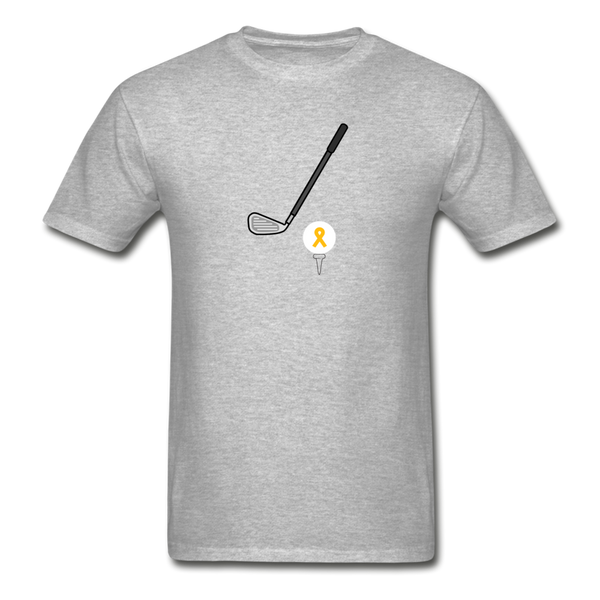 Childhood Cancer Awareness Shirt for Men - heather gray