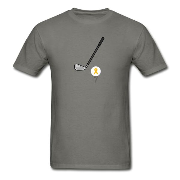 Childhood Cancer Awareness Shirt for Men - charcoal