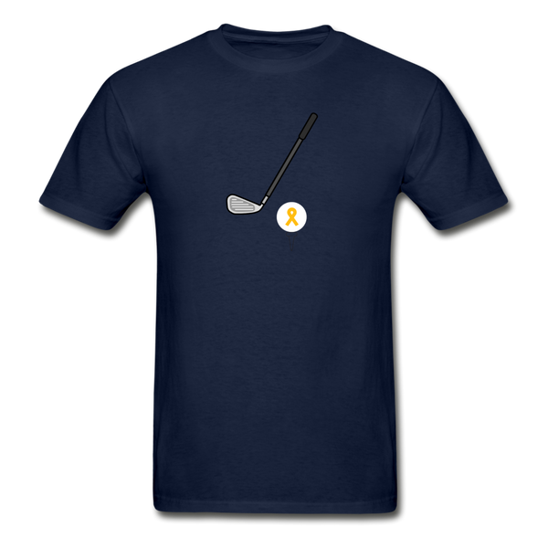 Childhood Cancer Awareness Shirt for Men - navy
