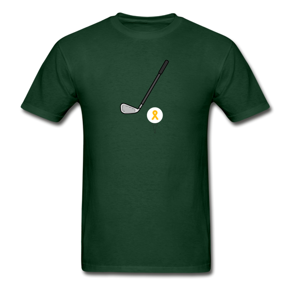 Childhood Cancer Awareness Shirt for Men - forest green