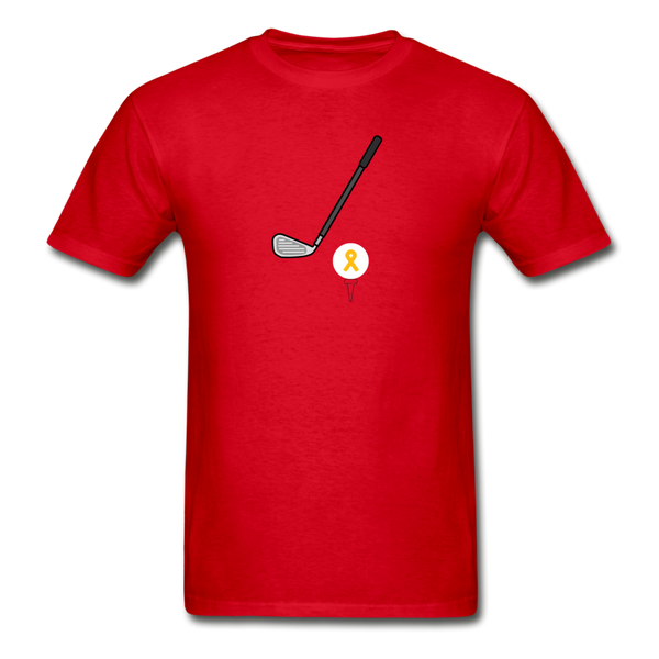 Childhood Cancer Awareness Shirt for Men - red