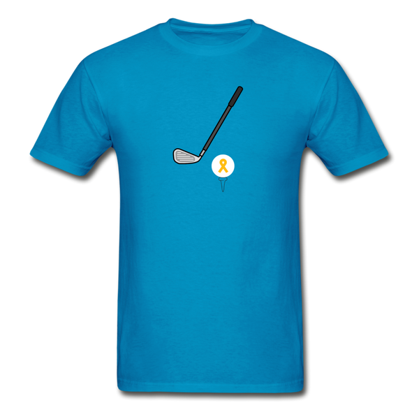 Childhood Cancer Awareness Shirt for Men - turquoise