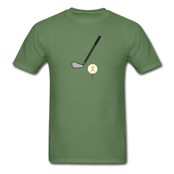 Childhood Cancer Awareness Shirt for Men - military green