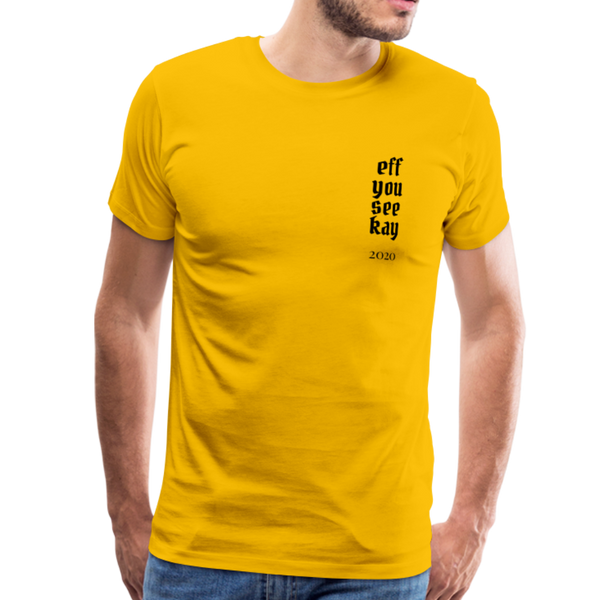 Men's Graphic T-Shirt - sun yellow