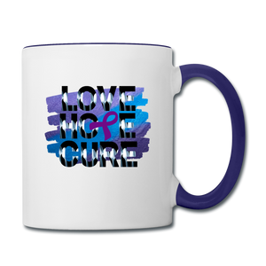 Contrast Coffee Mug - white/cobalt blue