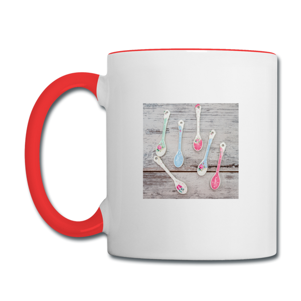 Contrast Coffee Mug - white/red