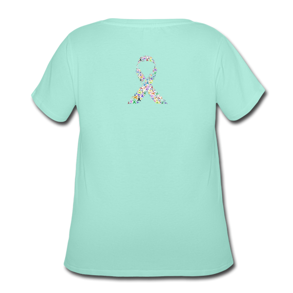Women's Curvy T-Shirt - mint
