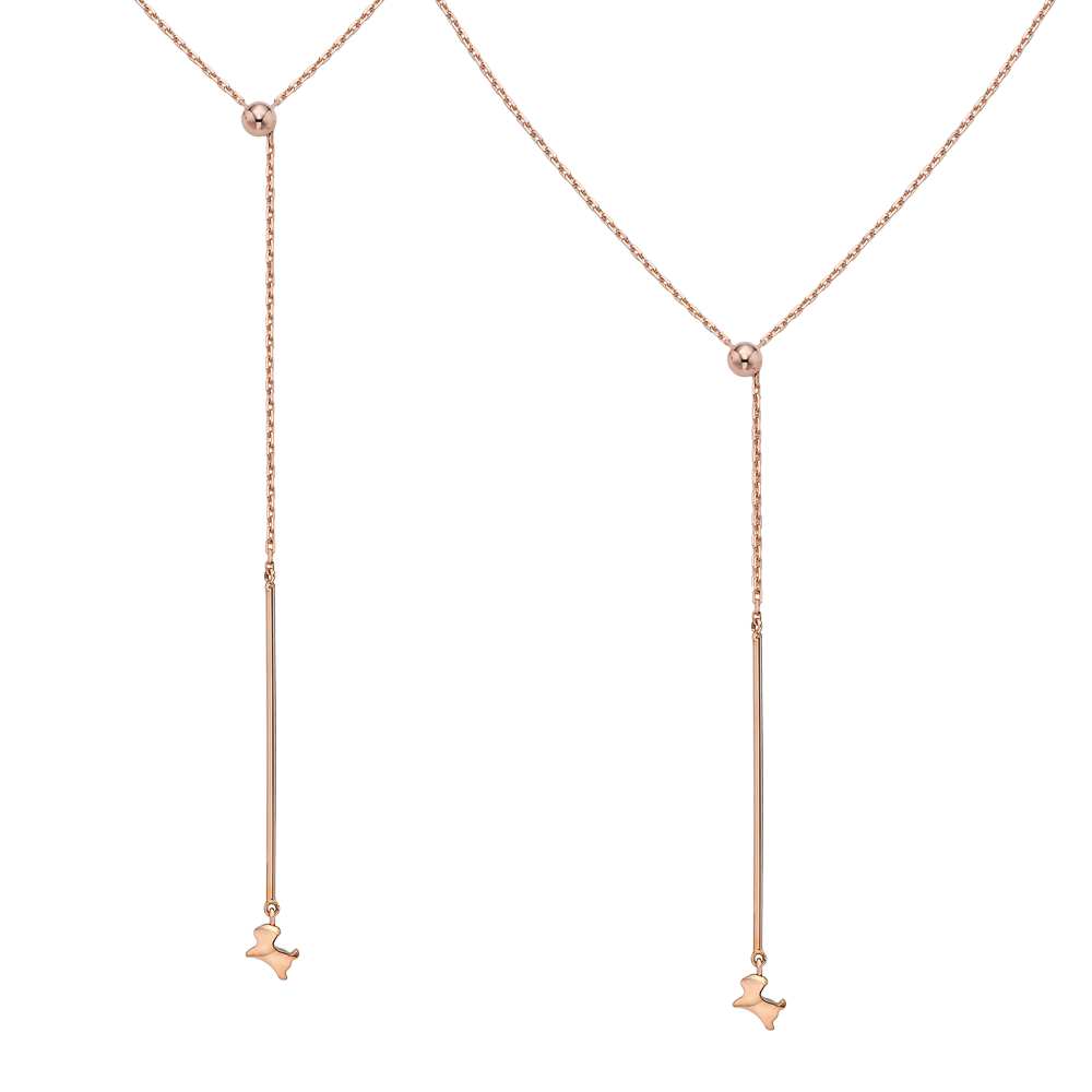 14K Rose Gold  Oriental Zodiac Dog Kaiu ElleNo.11 N2 Necklace