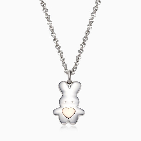 Personalized 5K Sterling Silver Chinese Zodiac Rabbit Necklace