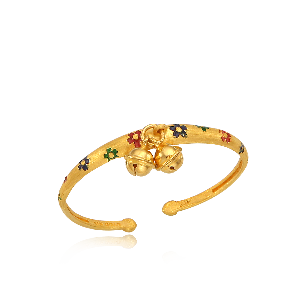 24K Gold Cloisonne The first birthday baby bracelet (7.5g )