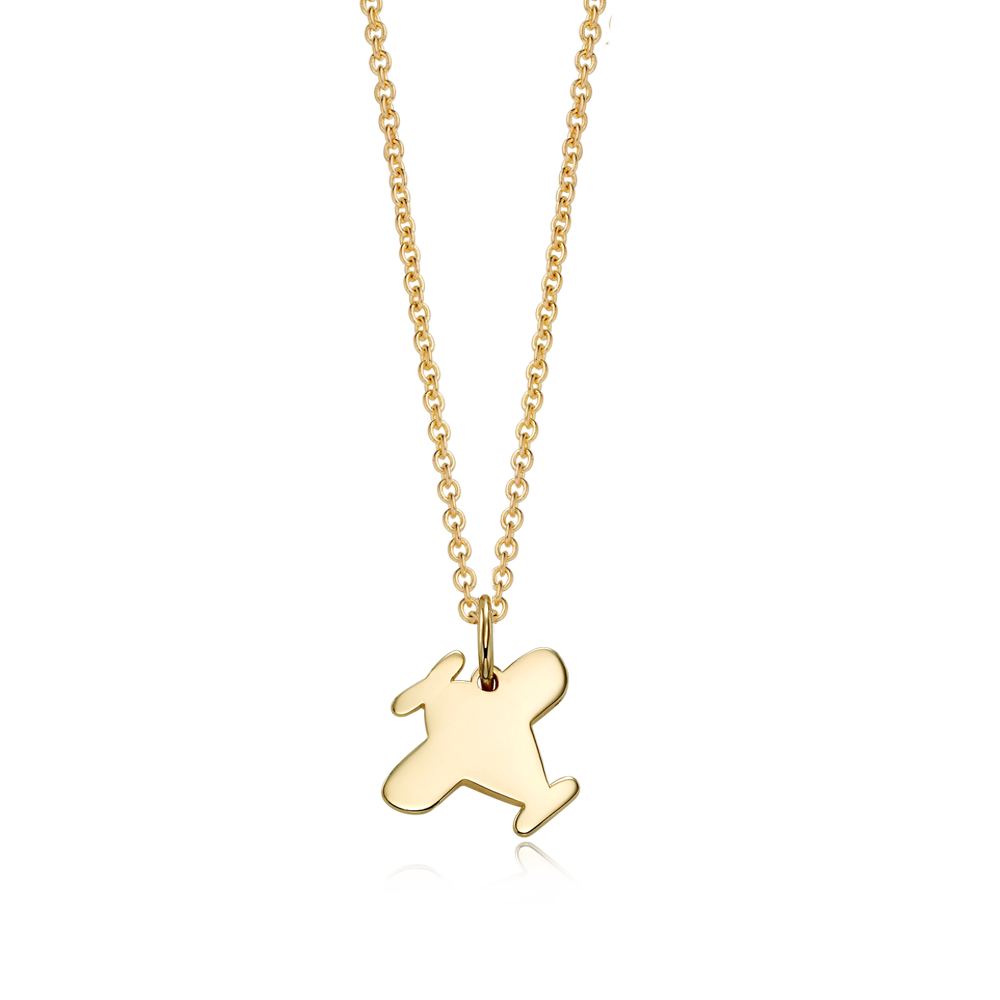 14K / 18K Gold B339 Airplane Necklace